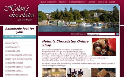 Helenschocolates.co.uk website