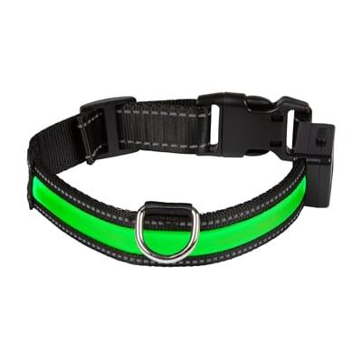 Halsband usb licht groen / zwart