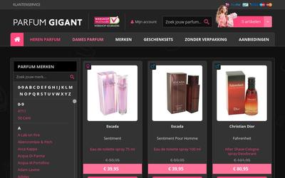Parfum Gigant website