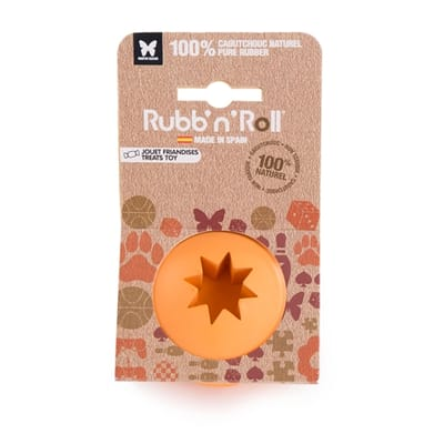 Rubb'n'roll snack bal oranje