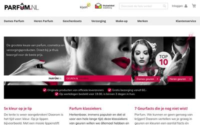 Parfum.nl website