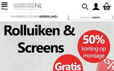 Raambekleding Nederland website
