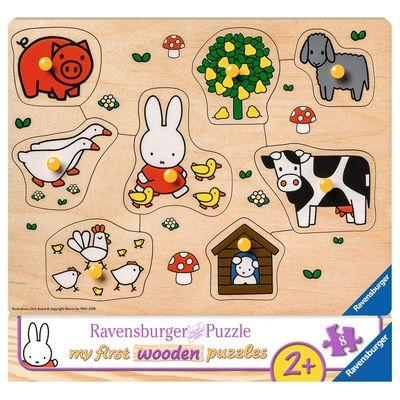 Ravensburger Nijntje op de boerderij houten puzzel