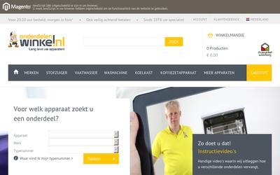 OnderdelenWinkel website