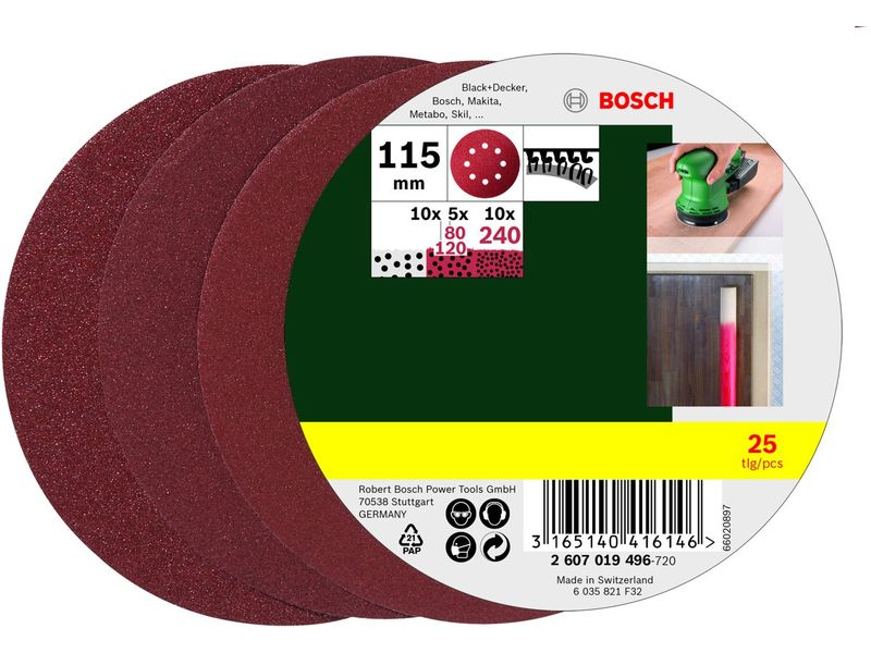 Bosch 115 mm 240 25 delige 120