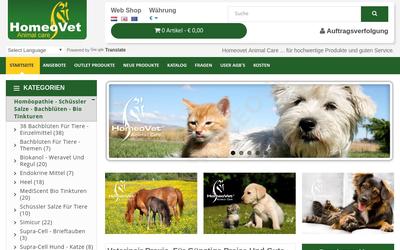 Homeovet Animal Care B.v. website