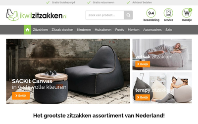 Ikwilzitzakken website