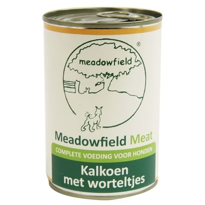 Meadowfield meat blik kalkoen worteltjes 400 gr