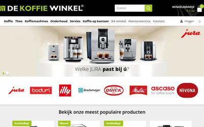 De Koffiewinkel website