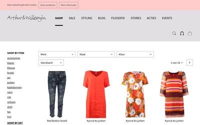 arthur & willemijn stores website