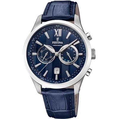Festina horloge heren blauw