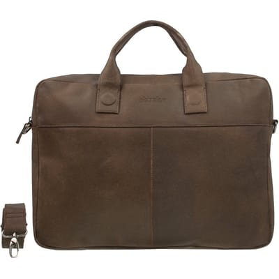 DSTRCT Fletcher Street Businessbag 17 inch bruin
