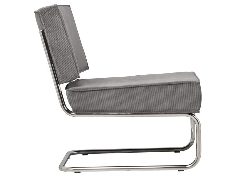 Zuiver Fauteuil Ridge Rib Lounge - Cool Grey