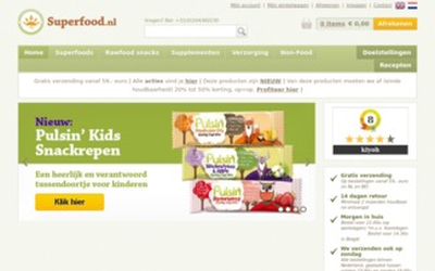 Superfood.nl website