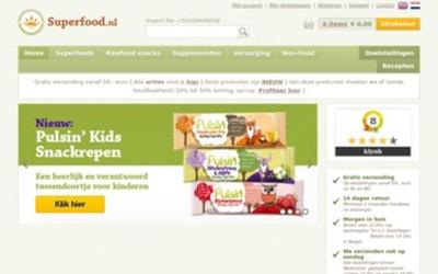 Superfood.nl website