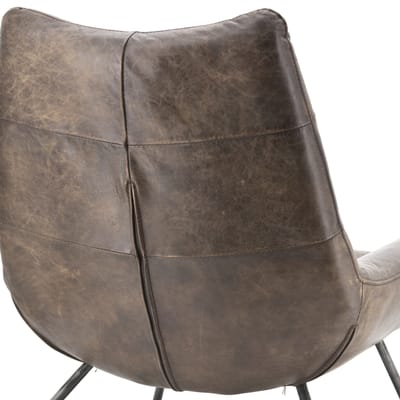 Fauteuil Pedro donkerbruin