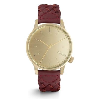 Komono Winston Woven Burgundy Horloge KOM W2030 en 3