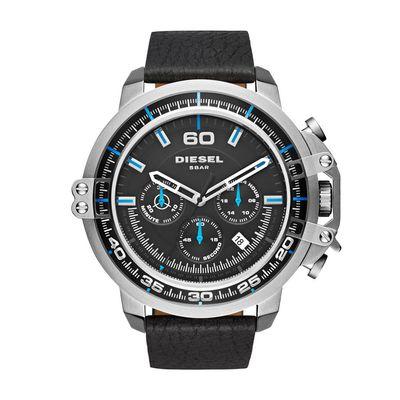 Diesel Deadeye DZ4408 zwart leder 5 Horloge