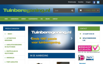 Tuinberegening.nl website