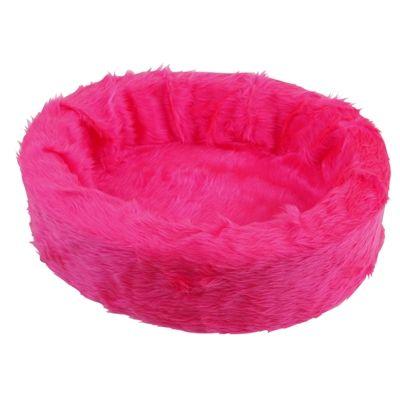 Petcomfort katten/hondenmand bont fel roze