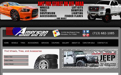 Americanwheelandtire.com website