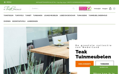 De Teak Specialist website