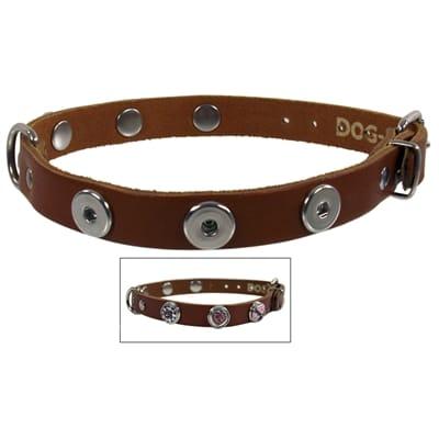 Halsband Leer Voor Buttons 55 cm