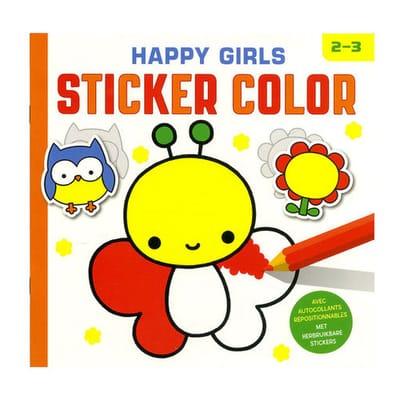 Deltas Happy Girls sticker color