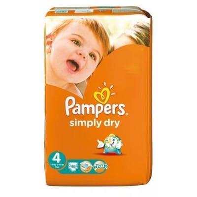Pampers Simply Dry Luiers Maat 4 46